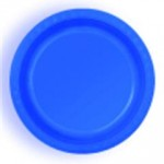 ROYAL BLUE DESSERT PLASTIC PLATES