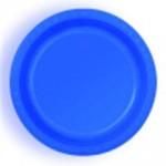 ROYAL BLUE DESSERT PLASTIC PLATES