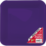 PURPLE SQUARE DINNER PLATES