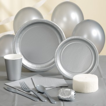 SILVER Party Supplies