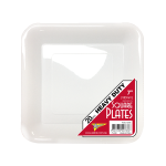 WHITE SQUARE DESSERT PLATES