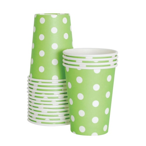 Paper Eskimo Apple Green Cups