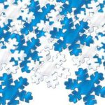 SILVER and BLUE SNOWFLAKE CONFETTI