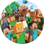 Minecraft Characters Cake Image
