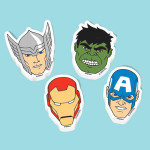 AVENGERS ERASERS FAVORS