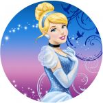 Cinderella Sparkle Cake Icing Image