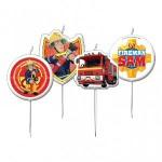 Fireman Sam Mini Pick Candles