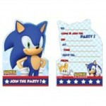 Sonic the Hedgehog Party invites