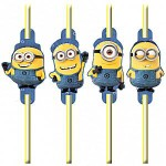 Despicable Me Party Drinking Straws