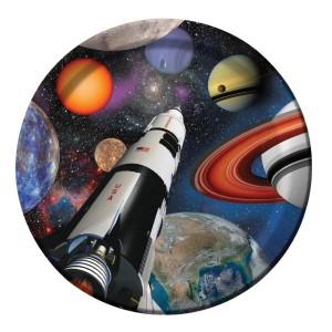 Space Blast Dinner Plates