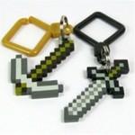 Minecraft Axe & Sword Keyring