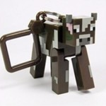 Minecraft Cow Keyring