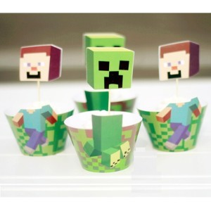 Minecraft Cupcake Wrappers Amp Cupcake Toppers This Party