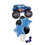 Monster Truck Blue Balloon Bouquet