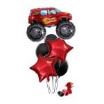 Monster Truck Red Balloon Bouquet