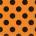 DOTS ORANGE & BLACK 16 LUNCHEON NAPKINS