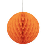 HONEYCOMB BALL PUMPKIN ORANGE