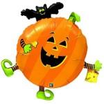 35 Jumbo Foil Pumpkin With Bat