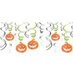 Friendly Ghost & Jack-o'-Lantern Swirl Decorations 12ct