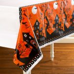 Frightfully Fancy Halloween Plastic Tablecover