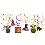 Halloween Swirl Decorations 12ct - Witch's Crew