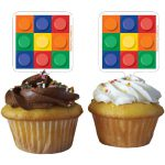 Lego Block Party Cupcake Toppers