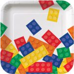 Lego Block Party Square Dessert Plates