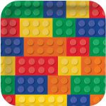 Lego Block Party Square Dinner Plates