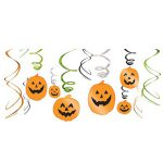 Pumpkin Hanging Swirl Decorations