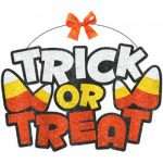Trick or Treat Glitter Sign