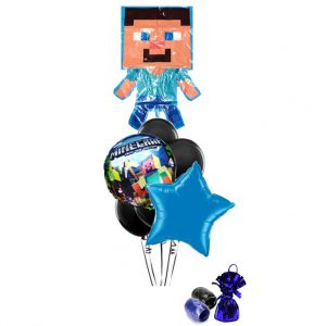 Minecraft Steve Balloon Bouquet (blue)