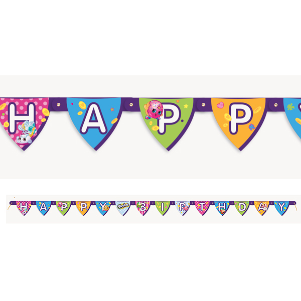 Shopkins banner. Birthday this party started