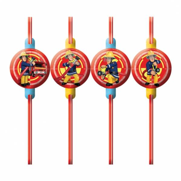 Fireman Sam Party Straws