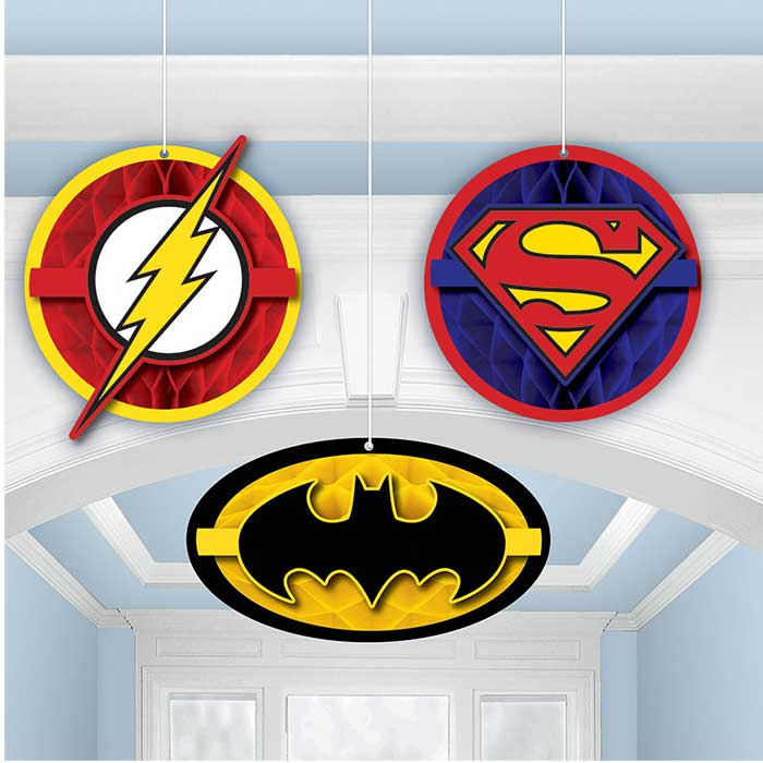 JUSTICE LEAGUE TISSUE DECORATIONS