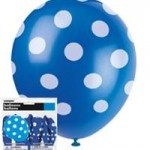 DOTS ROYAL BLUE 6 LATEX BALLOONS