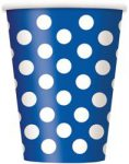 DOTS ROYAL BLUE 6 PAPER CUPS