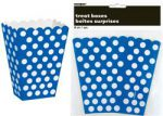DOTS ROYAL BLUE 8 TREAT BOXES