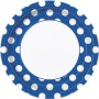 DOTS ROYAL BLUE 9in. PAPER PLATES