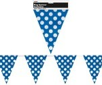 DOTS ROYAL BLUE FLAG BANNER