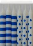 DOTS & STRIPES ROYAL BLUE 12 CANDLES
