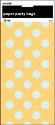 DOTS YELLOW 12 PAPER BAGS