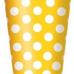 DOTS YELLOW 6 PAPER CUPS