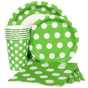 Lime Green Polka Dot Party Supplies