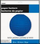 ROUND PAPER LANTERN ROYAL BLUE 25cm 10in
