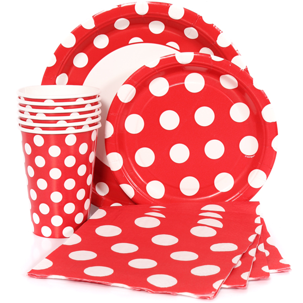 Red Polka Dot Party Supplies