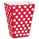Red Polka Dots Treat Boxes