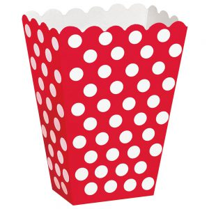 Red Polka Dots Treat Boxes