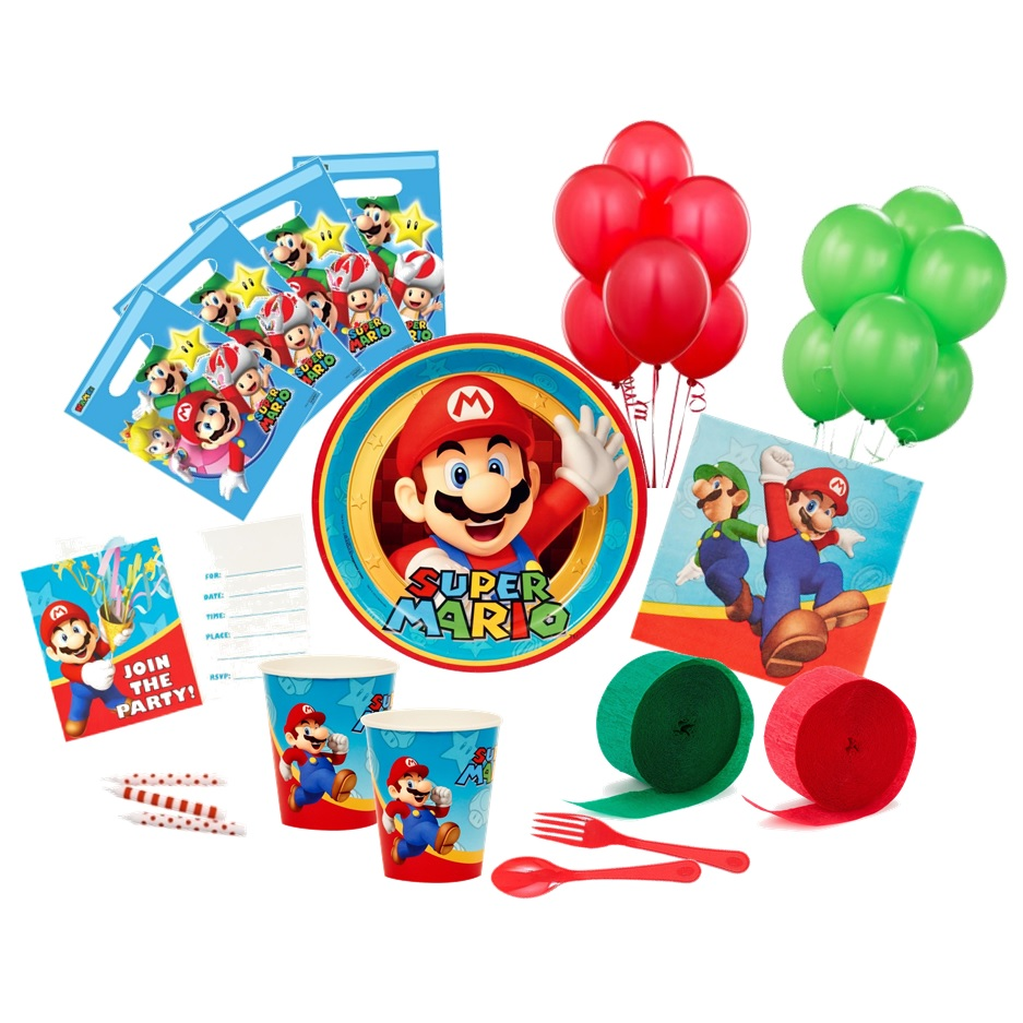 Super Mario Deluxe Party Pack | Super Mario Party Supplies | This ...
