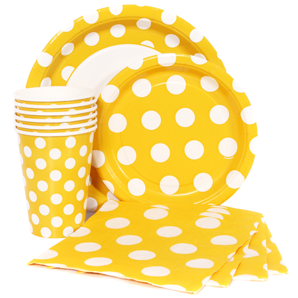 Yellow Polka Dot Party Supplies