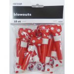 red and white dots blowouts